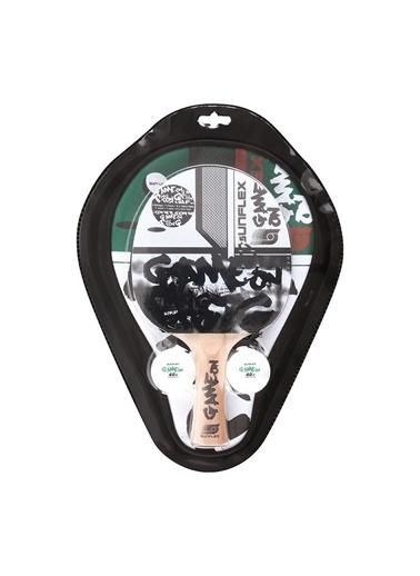 Şahbaz Şahbaz 38619 Sunflex 10250S Game On Raket+2 Top+Kılıf Masa Tenisi Seti Renkli
